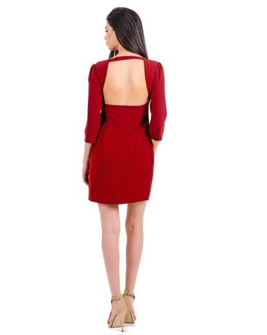 SHORT DRESS WITH OPEN BACK