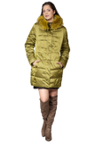 JACKET WITH DETACHABLE FUR COLLAR