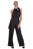 HALTER NECK JUMPSUIT WITH A BOW TIE