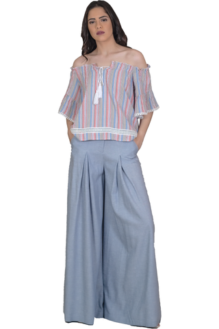 WIDE PANTS WITH PLEATS