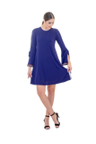 LOOSE DRESS WITH BELL SLEEVES