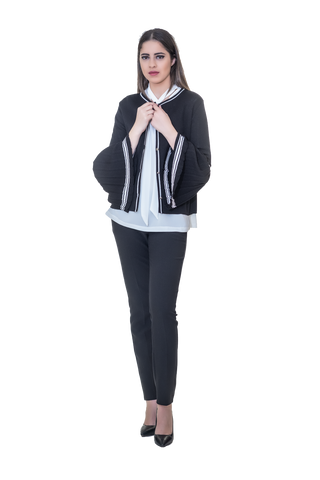 CARDIGAN WITH PLEATED SLEEVES