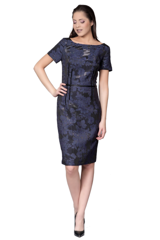 CHIC EMBOSSED DRESS