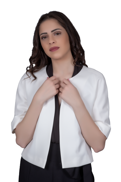 ROUND NECK JACKET WITH SHORT SLEEVES