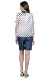 LOOSE BLOUSE WITH POLKA DOT PATTERN