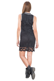 LACE DRESS WITH ATHLETIC DETAILS