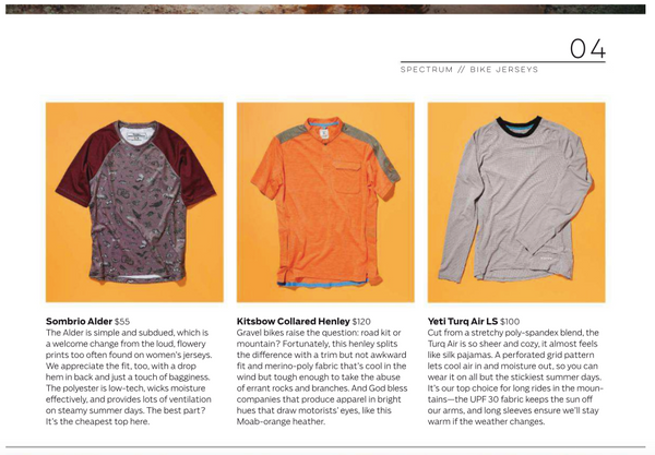 Outside Magazine - Collared Henley featured in 2018 Summer Buyer's Guide