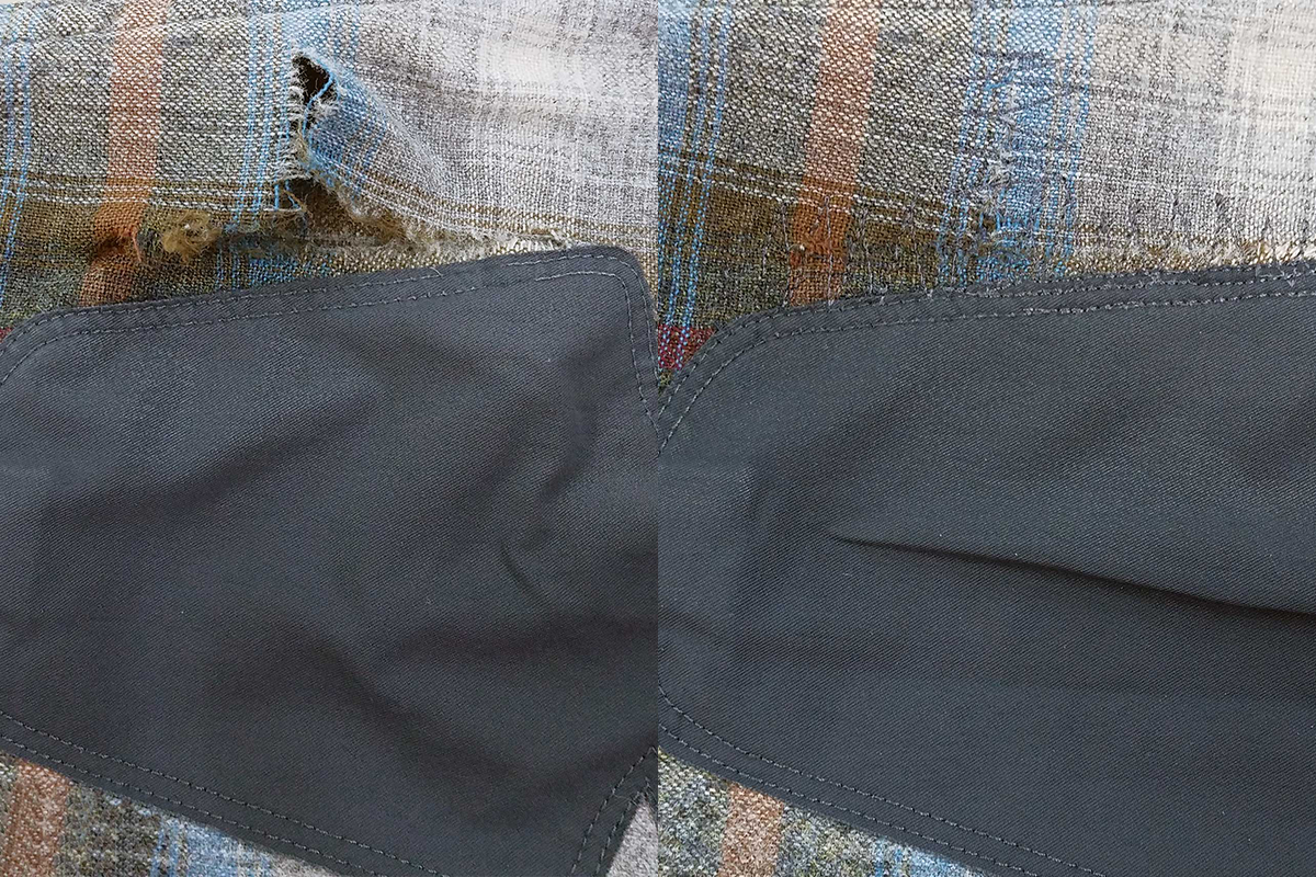 Icon Shirt Before and After Repair