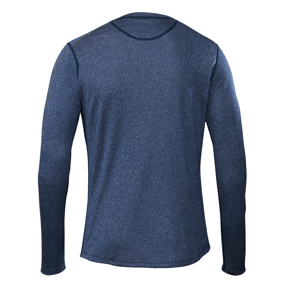 Escalator Merino Henley Blue Ash