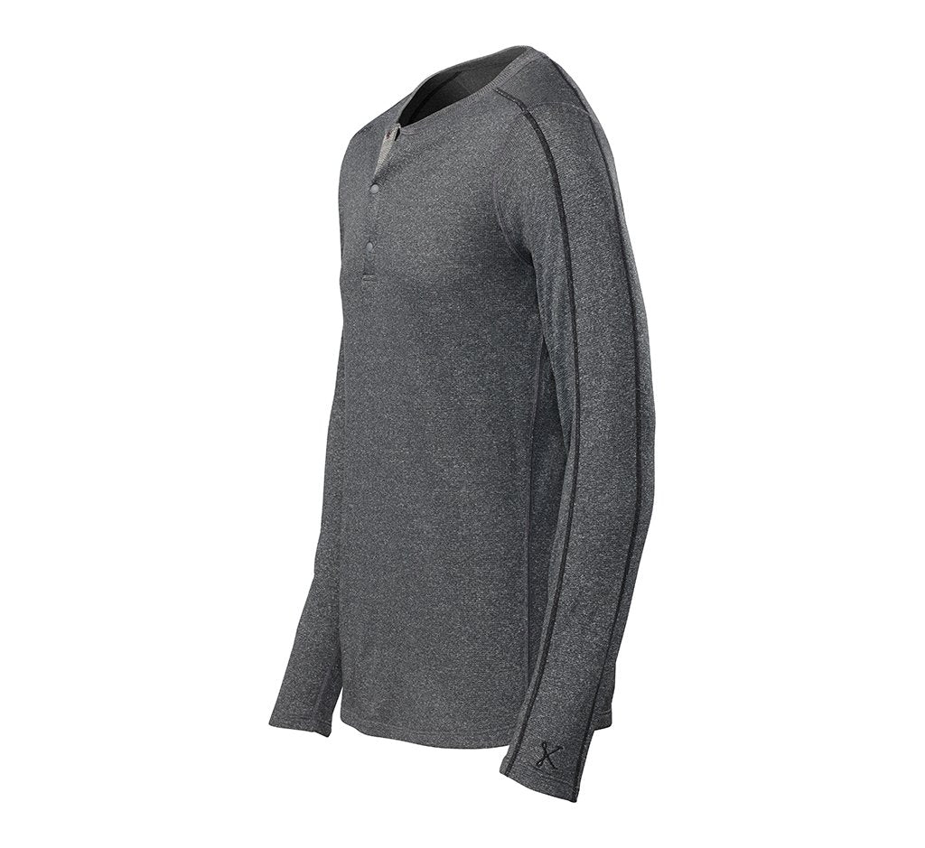 Escalator Merino Henley Black Heather