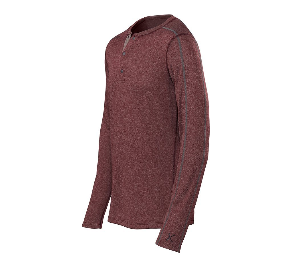 Escalator Merino Henley Oxblood Heather