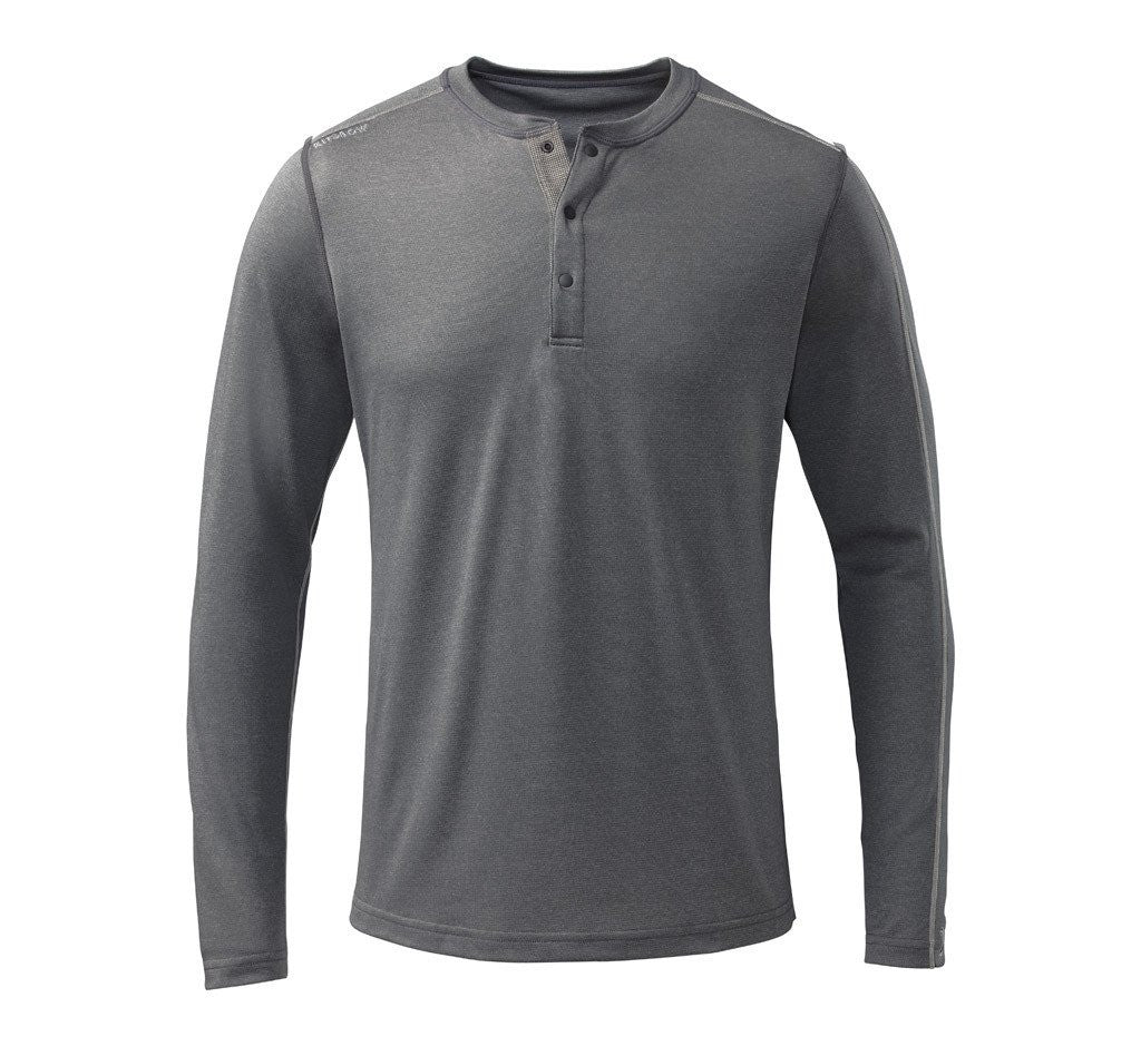 Escalator Merino Henley Steel Grey