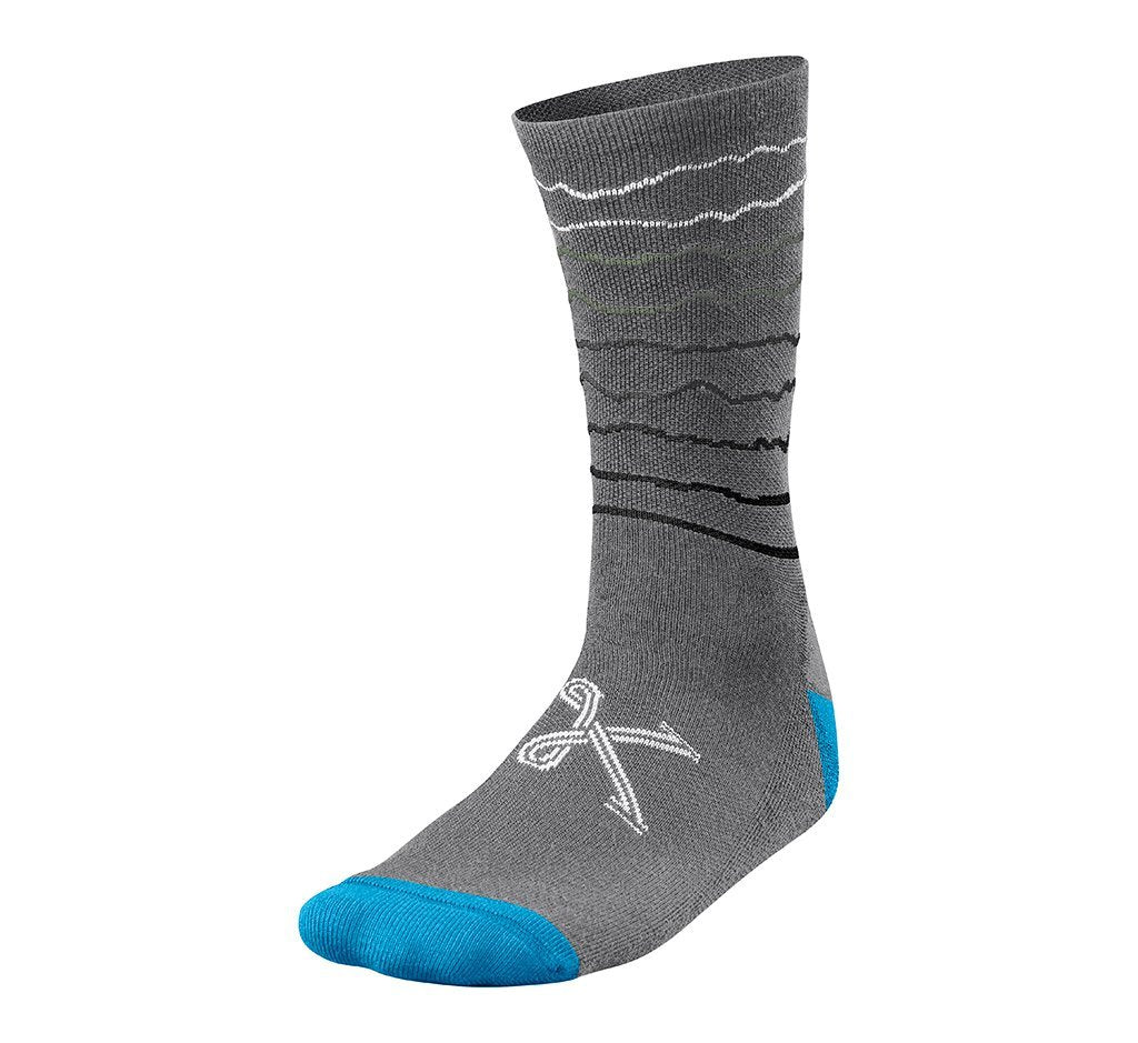 "Merino Mountain Sock 7"" Grey Heather"