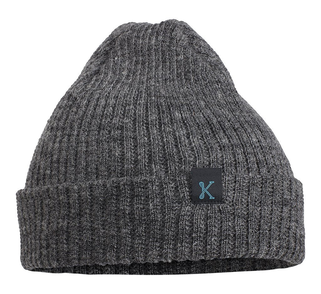The Gronk Merino Toque Charcoal Heather