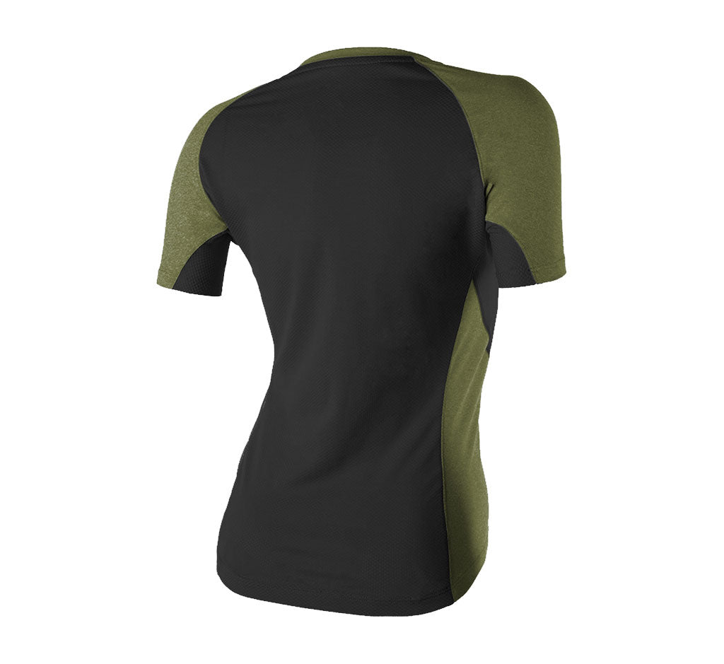 Glorieta V-Neck Tee Black/Cedar