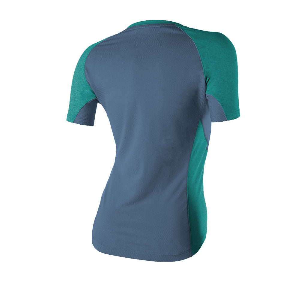 Glorieta V-Neck Tee Mineral Blue/Russian River