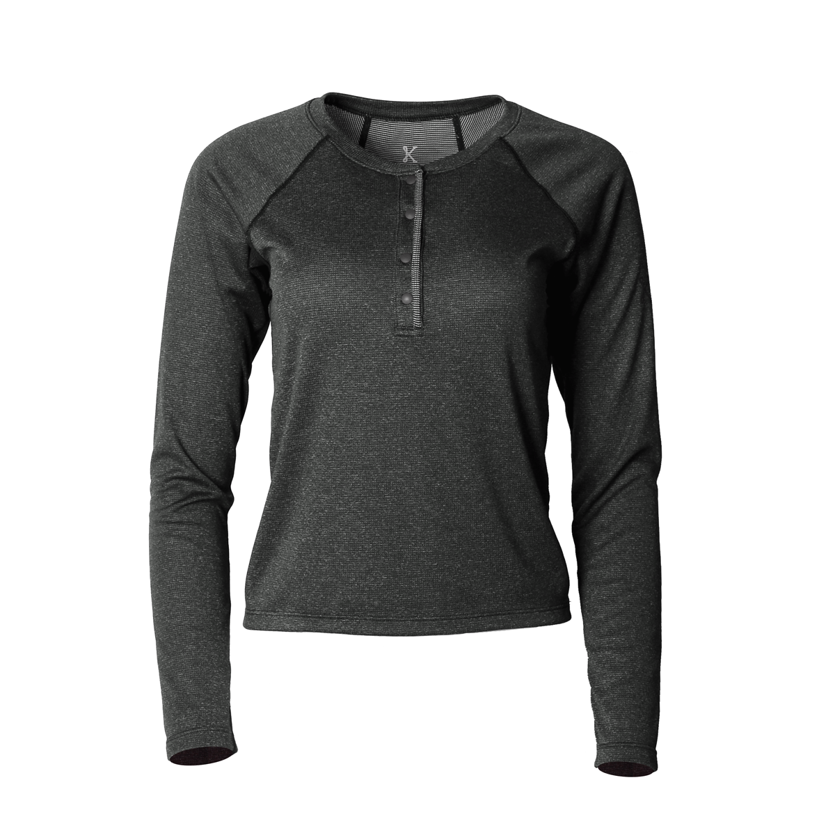 Lory Merino Top Black Heather