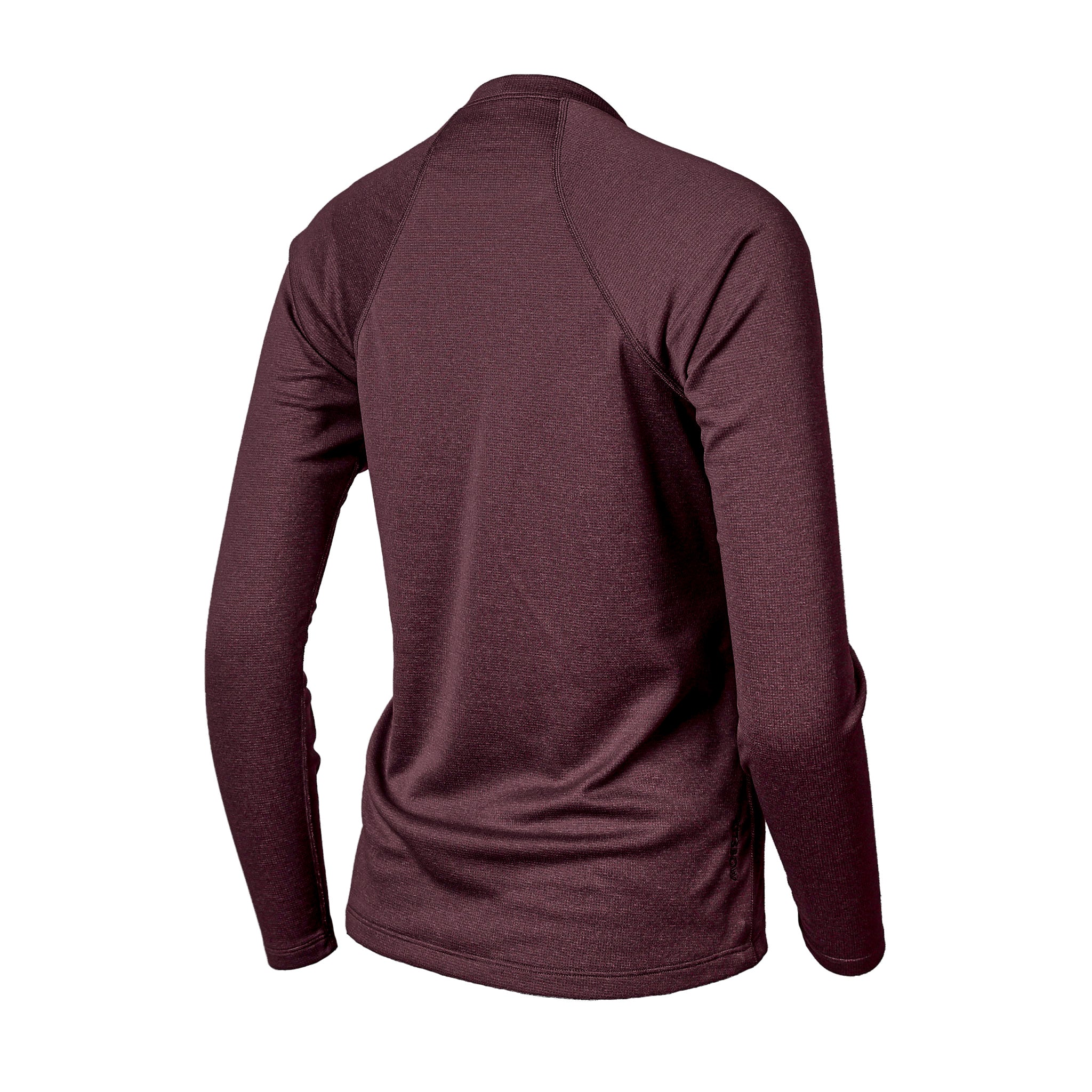 Lory Merino Crew Top Oxblood Heather