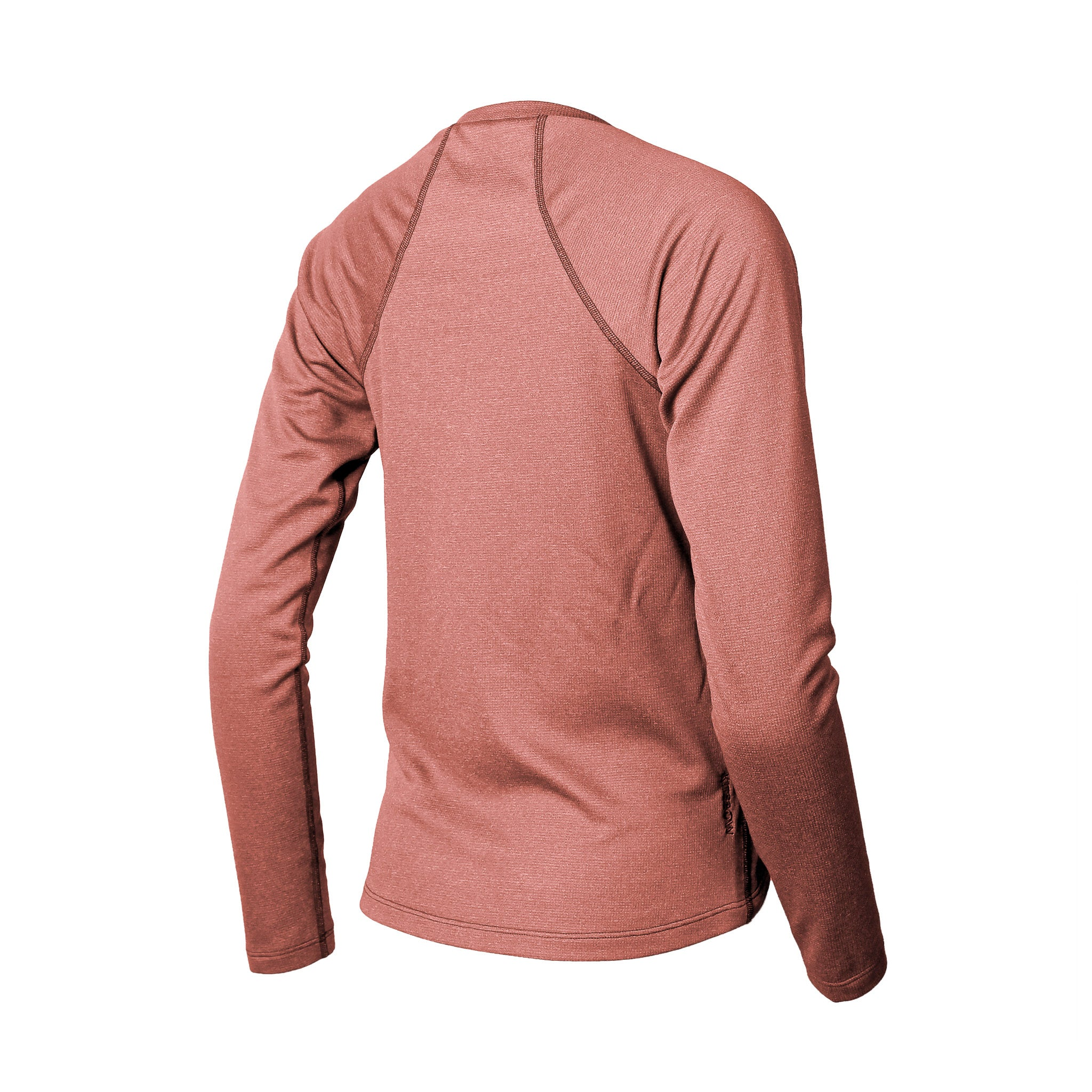 Lory Merino Crew Top Redwood Heather