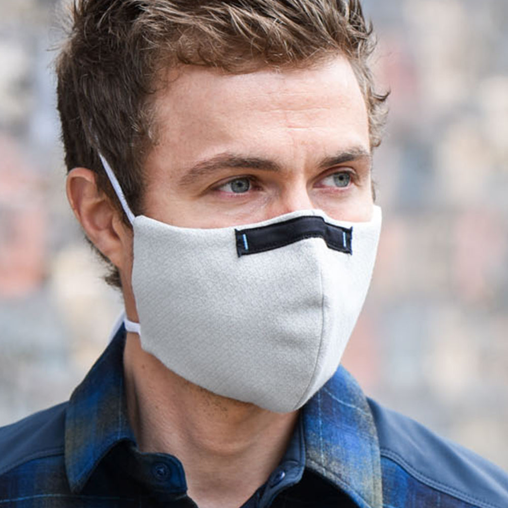 Man wearing Wake ProTech™ Reusable Face Mask Cirrus