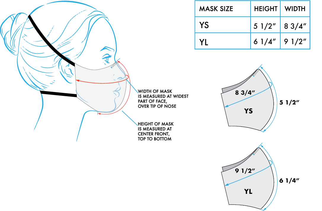 Wake ProTech™ Reusable Face Mask for Kids (with Filter) Cirrus Stratus