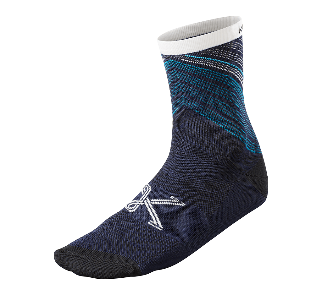 "V File Sock 5"" Navy"
