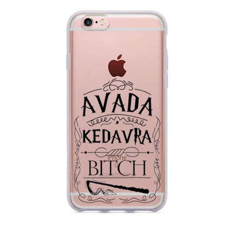 Harry Potter Design Soft Silicone Phone Cases Avada Kedavra Bitch / Hogwarts / Spectacles