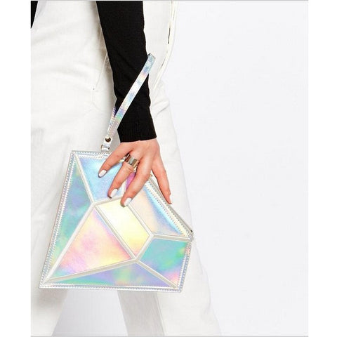 diamond cut out shape clutch