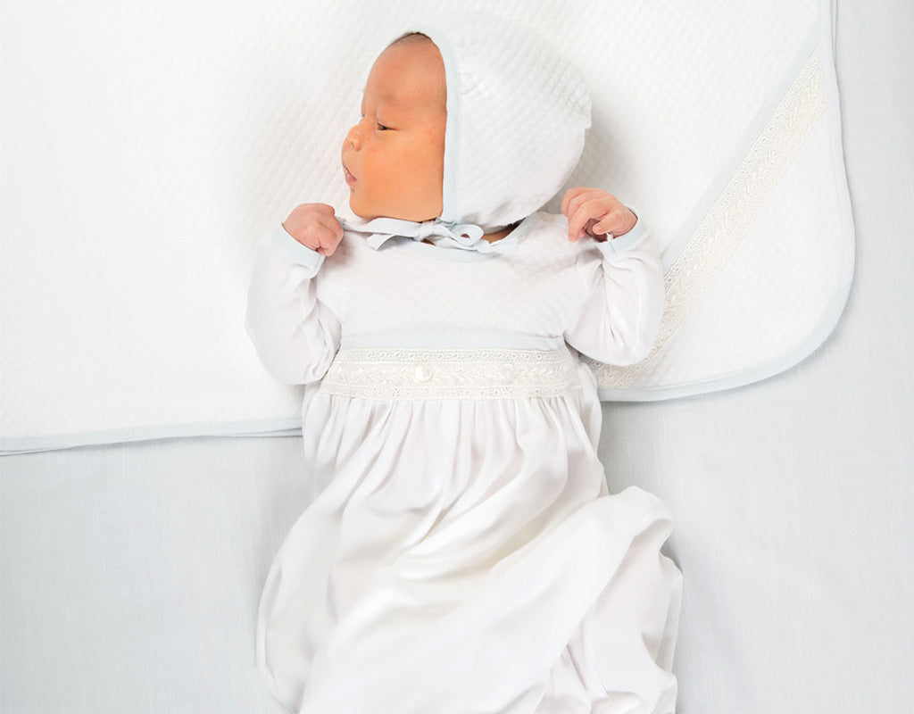 Taking Home Baby in the Harrison Newborn gown