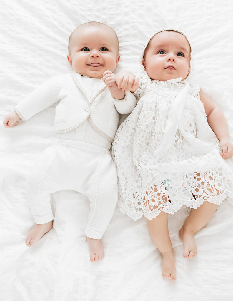 Twins Blessing Day | Lola Dress & Liam Suit