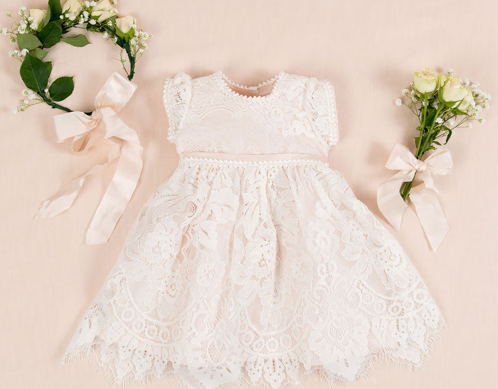 New! | Victoria Silk Flower Girl Dress