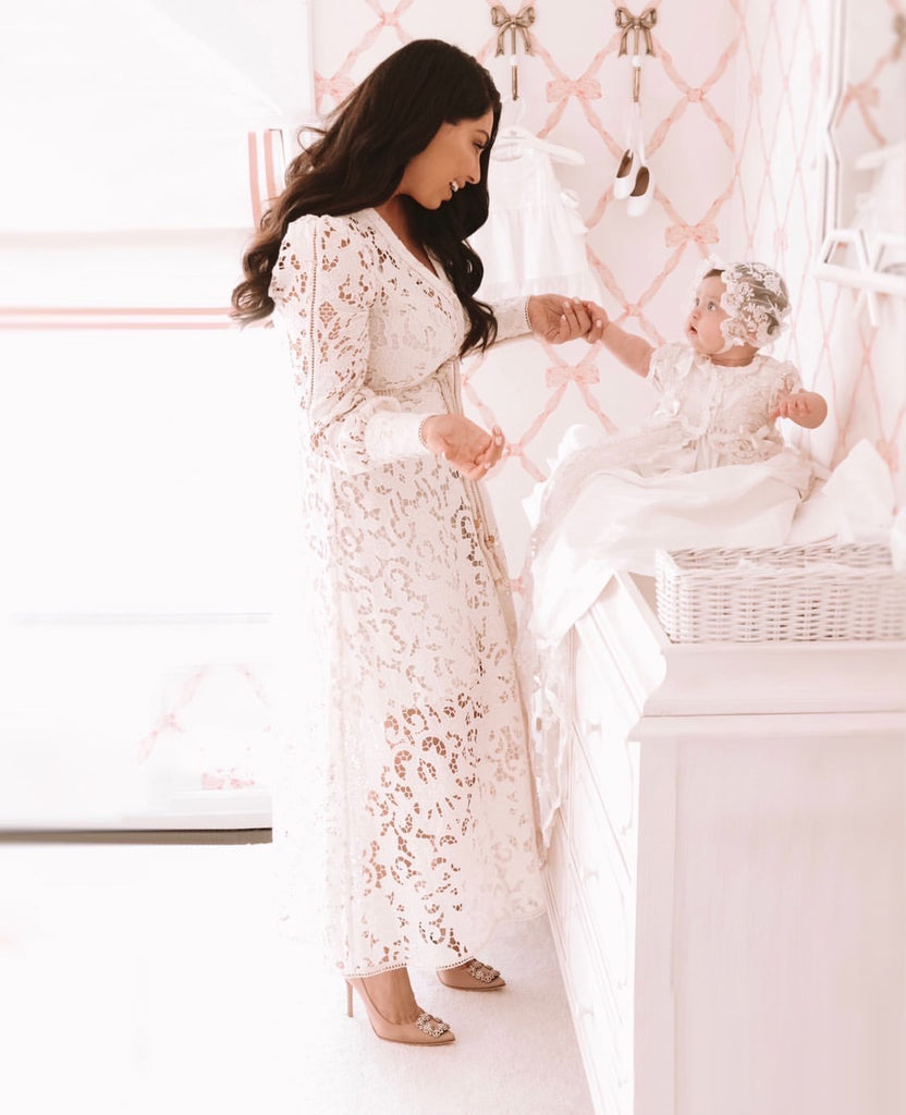 Baptism Day Lace Gown
