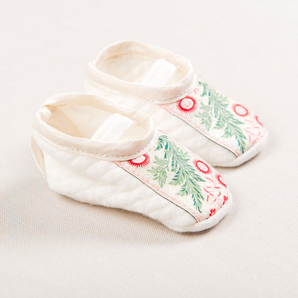 babys first christmas shoes booties