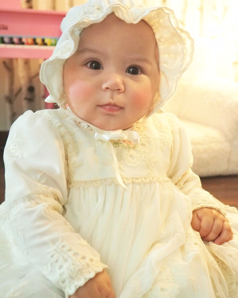 Clementine Christening Gown and Bonnet