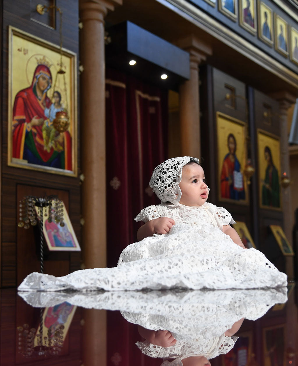 Zoya's Baptism Photos | Lola Christening Gown & Bonnet Set
