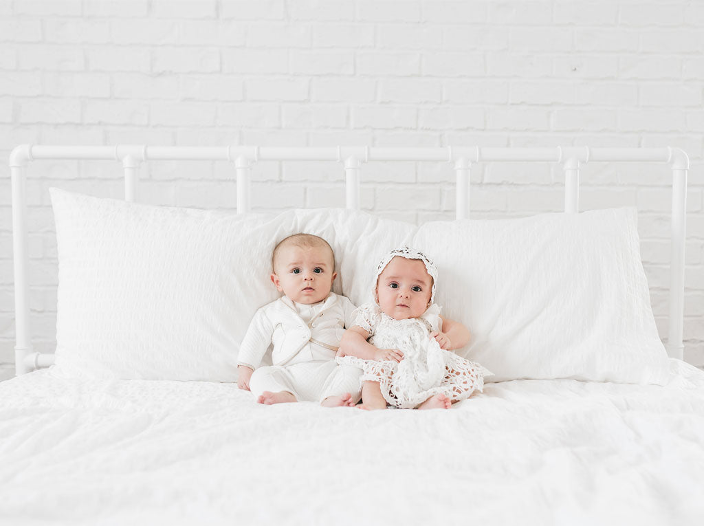 Twins Blessing Day | Lola Dress & Liam Suit | Baby Beau & Belle