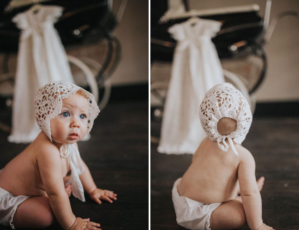 Dedication Photos | Lola Christening Gown & Bonnet Set