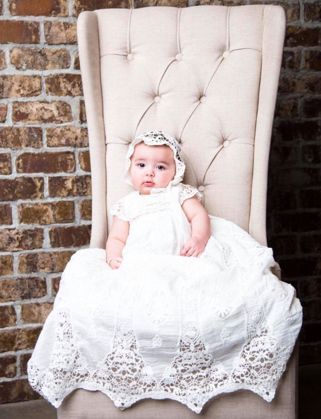 Edenelle's Blessing Day | Grace Christening Gown & Bonnet