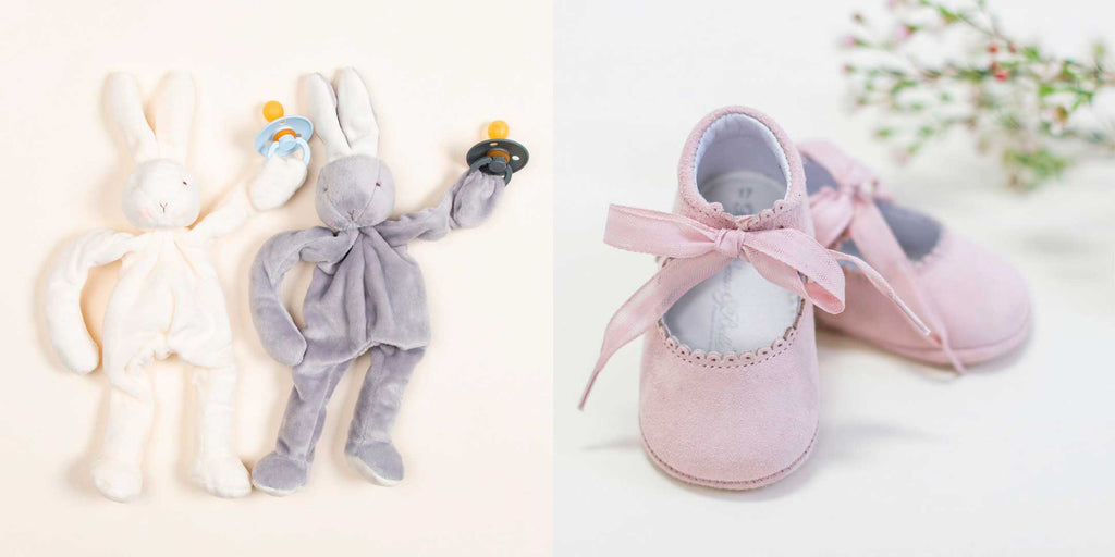baby shower gift shoes bunny