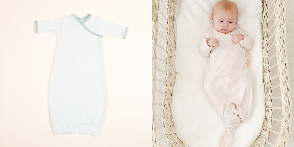 knotted baby gowns