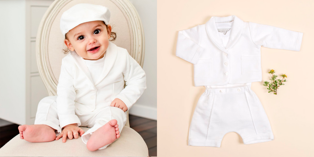 boys blessing suit white