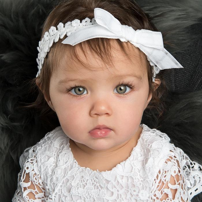 Grace White Headband