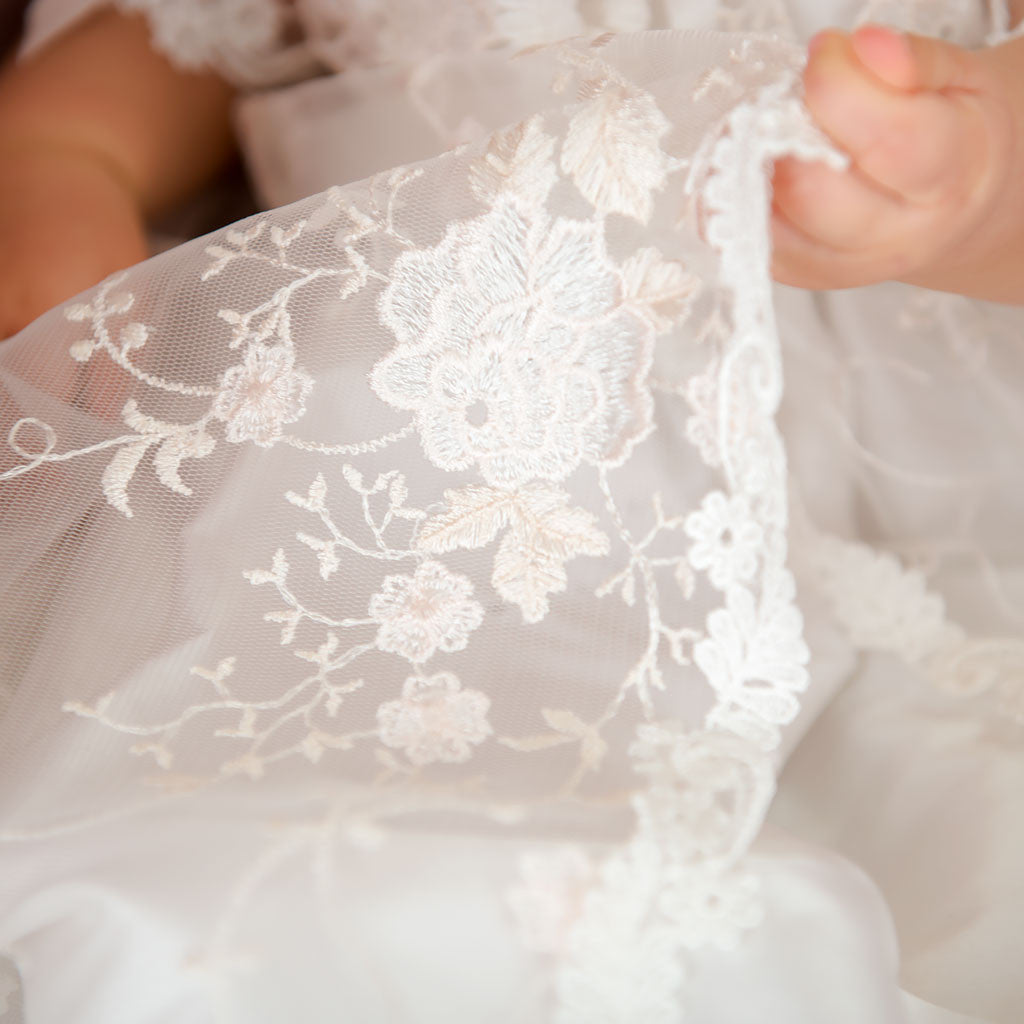 Scarlett Lace Christening Gown Detail