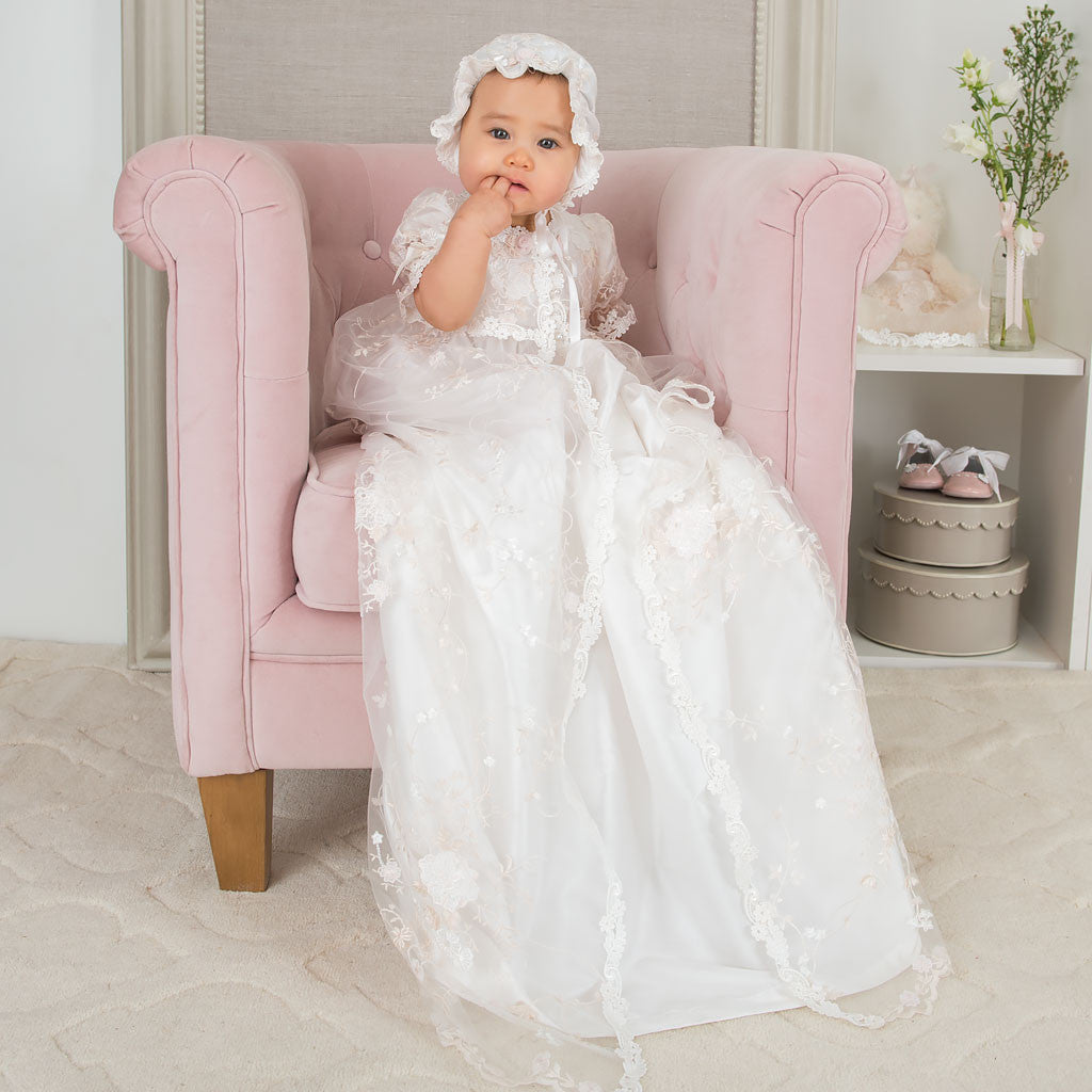 Scarlett Lace Christening Gown Alternate View
