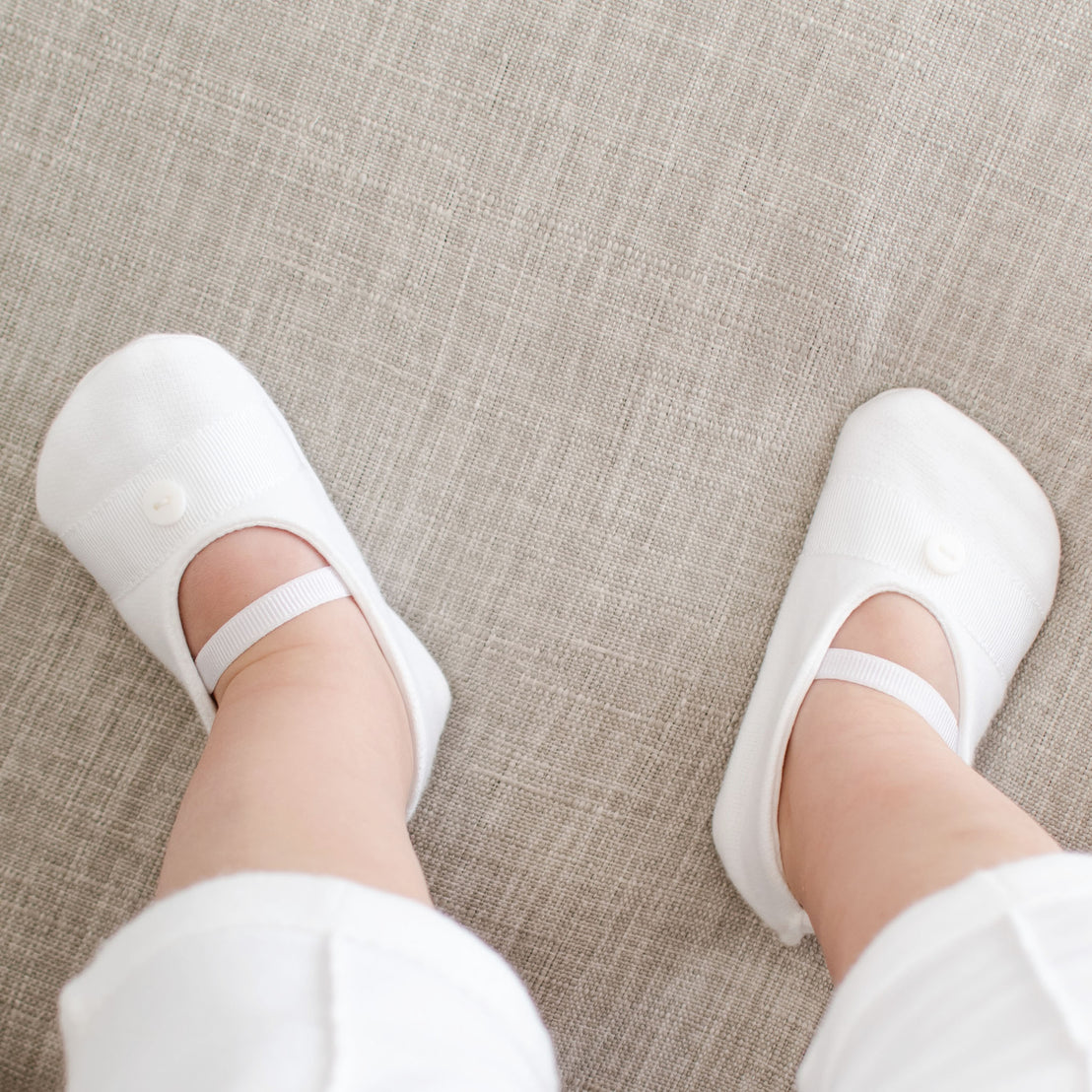 White French Terry Booties