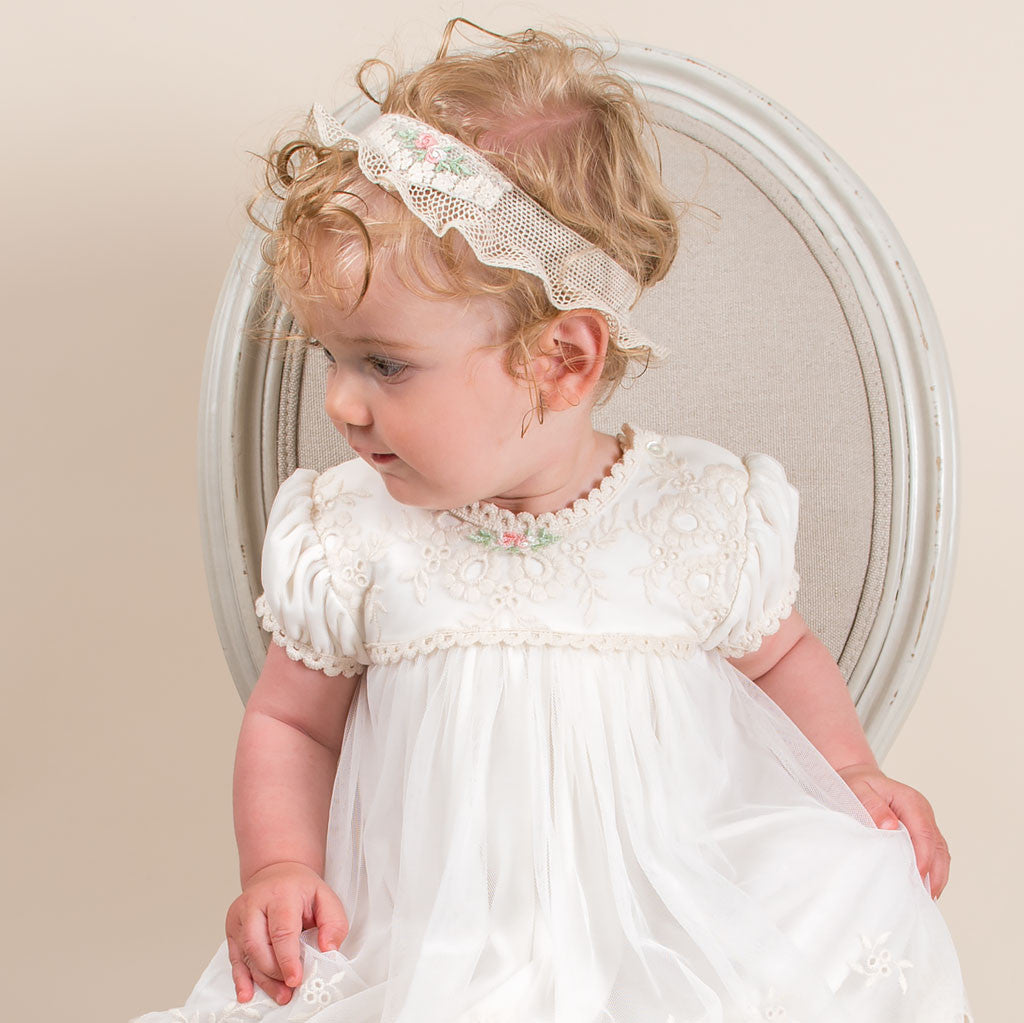 Clementine Girls Headband With Gown