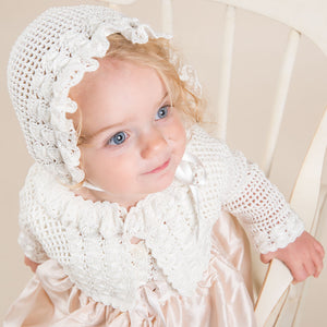 Marita Hand-loomed Sweater & Bonnet