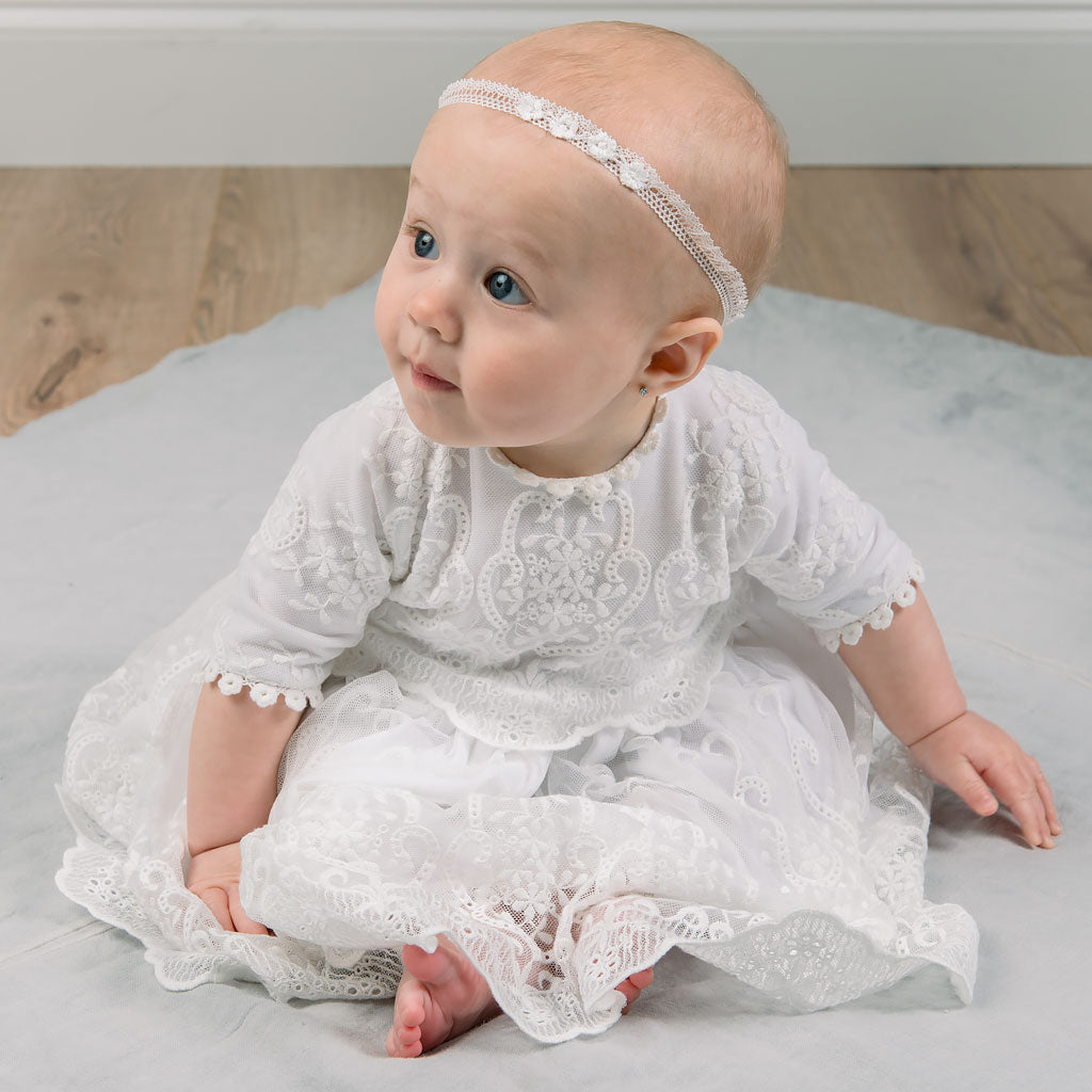 Eliza Lace Dress & Headband