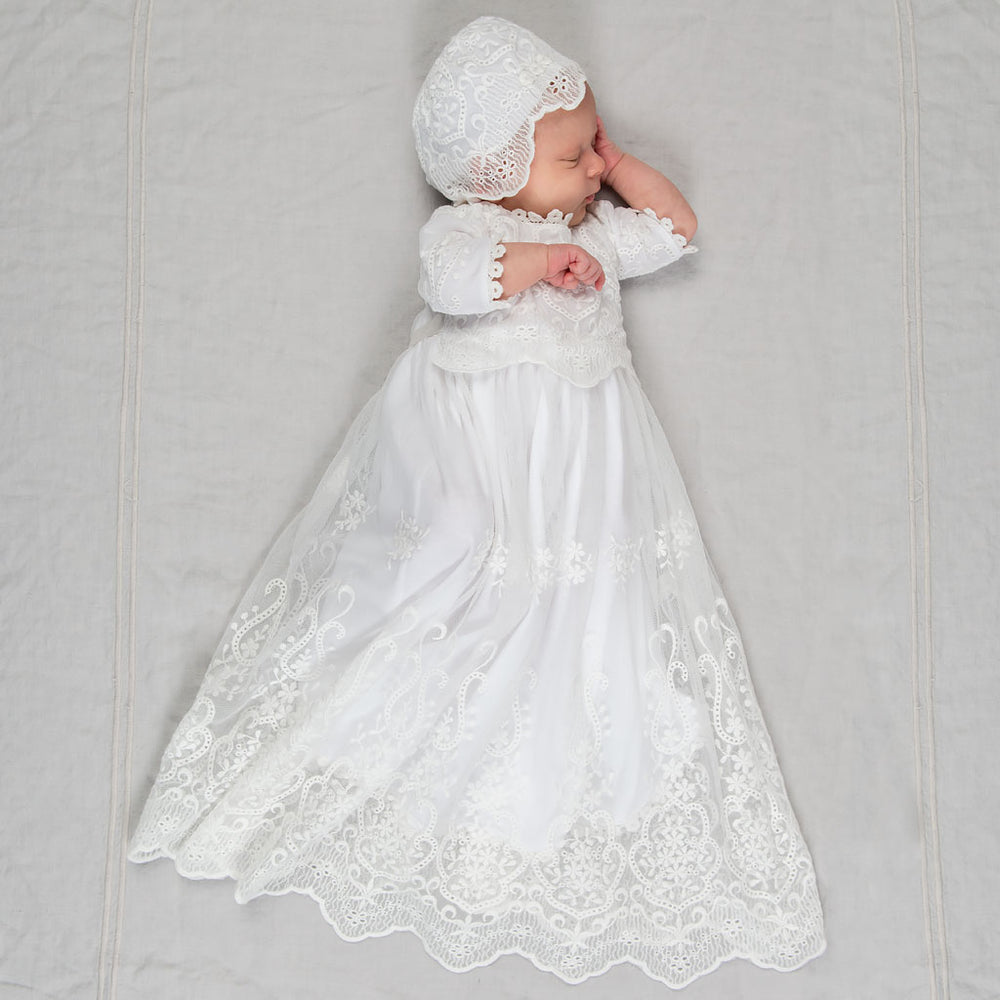 Eliza Blessing Gown, Bonnet & Booties