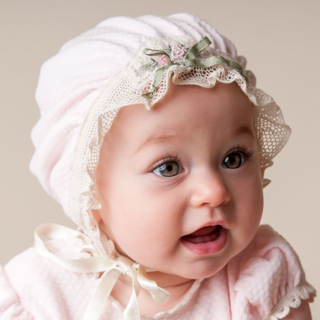 Natalie Girls Cotton Bonnet